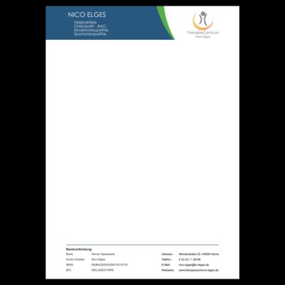 Briefpapier von Nico Elges im TherapieCentrum Fred Elges Herne