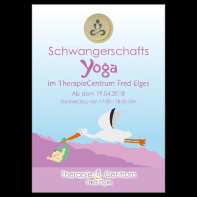 Flyer des Schwangerschafts-Yoga-Kurses im TherapieCentrum Fred Elges Herne