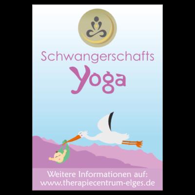 Plakat des Schwangerschafts-Yoga-Kurses im TherapieCentrum Fred Elges Herne