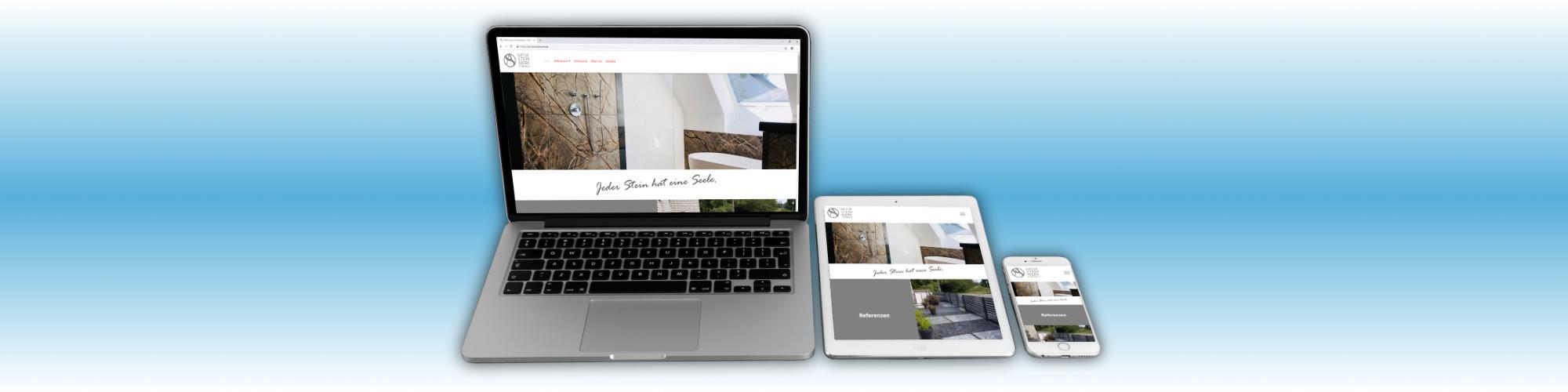 Webdesign für das AS Natursteinwerk Gelsenkirchen, einem Anbieter von Naturstein, Quarz und Keramik