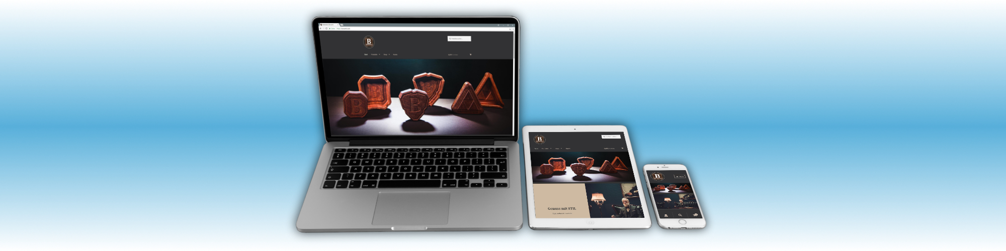 Webdesign für Bowantri, einem Anbieter für exquisites Raucherzubehör aus zertifiziertem Holz