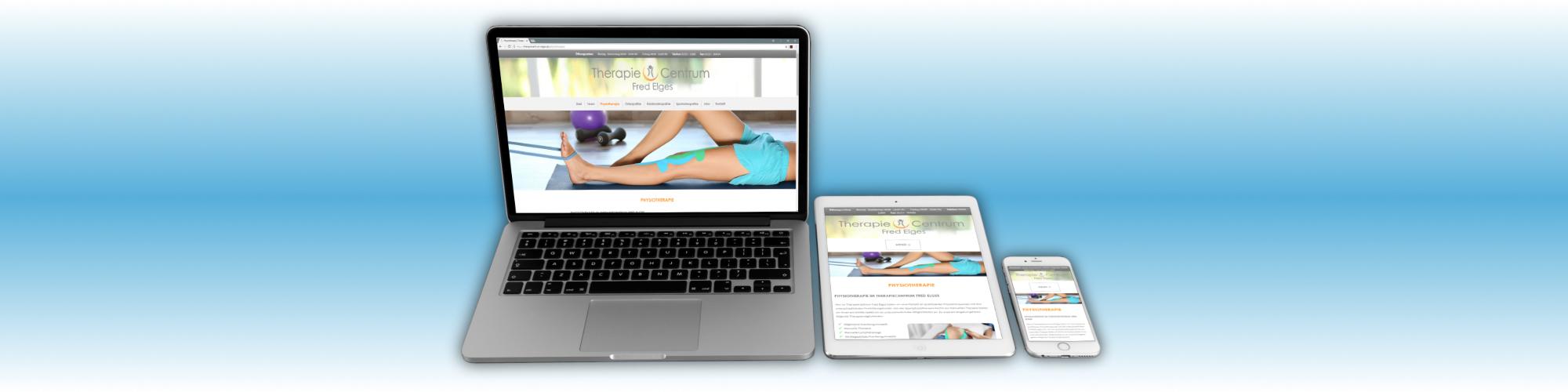 Webdesign für das TherapieCentrum Fred Elges, eine Praxis für Physiotherapie/Krankengymnastik, Osteopathie, Kinderosteopathie, Sportosteopathie und Traditionelle chinesische Medizin