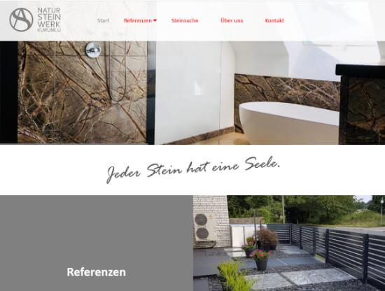 Die Webseite von AS Natursteinwerk