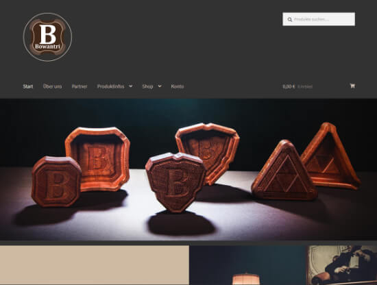 Webdesign für Bowantri
