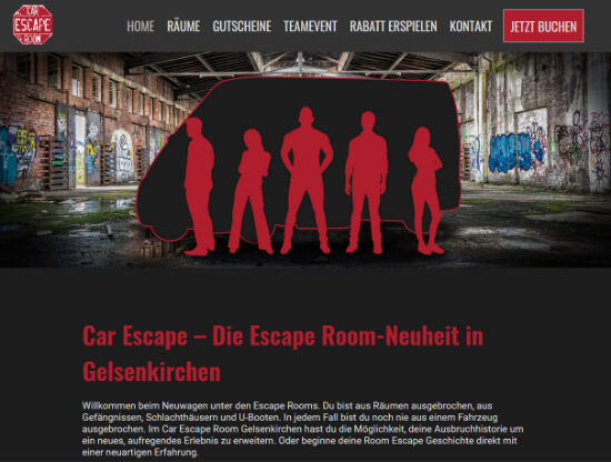 Webdesign für Car Escape